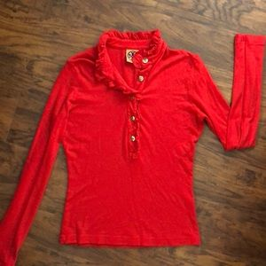 Tory Burch Red knit top NWOT